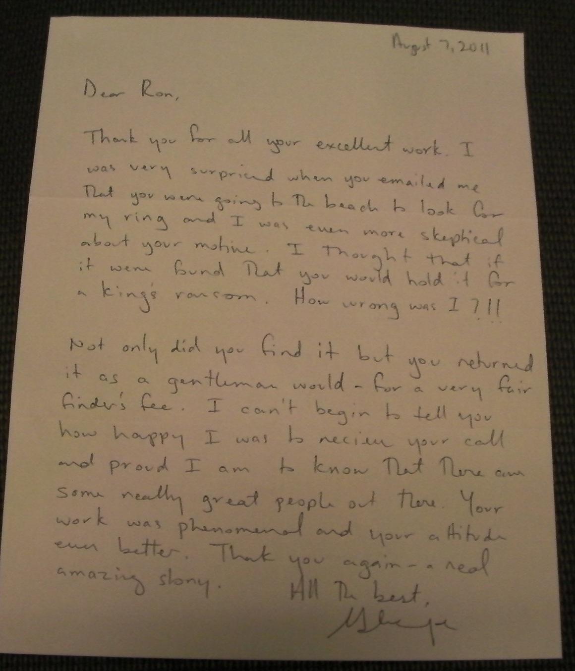 Promise Ring Letter